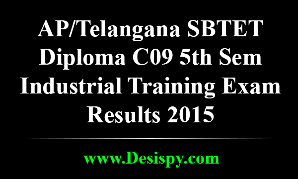 AP-ts-SBTET-Diploma-C09-5th-Sem-Industrial-Training-Exam-Results-2015