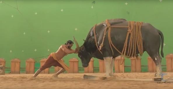 Behind the scenes  Watch how Rana Defeat Mighty Bull in Baahubali