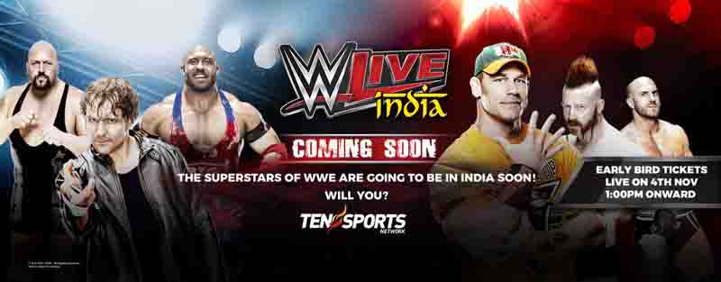 Complete schedule of WWE Live India tour 2016