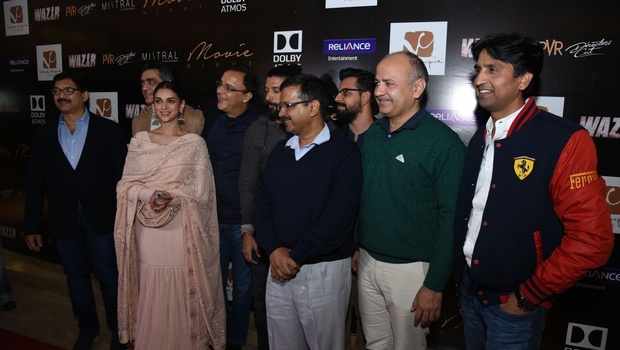 Delhi CM Kejriwal Watches 'Wazir' With Star Cast