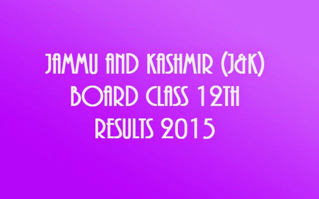 JKBOSE 12th Annual Result 2015