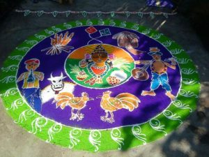 Happy Pongal/ Makar Sankranthi 2018 Images, Rangoli Designs Pictures Photos (Muggulu)