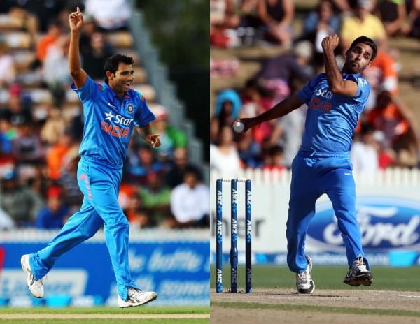 Shami out, Bhuvneshwar in for Australia series