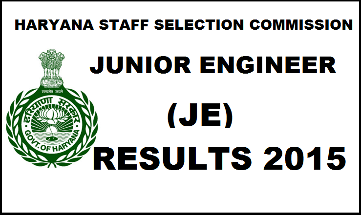 HSSC JE Results 2015-2016: Check Haryana Junior Engineer Results Here