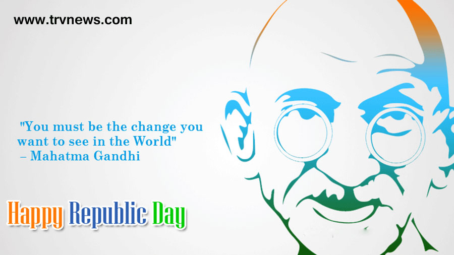 happy republic day 2016 with gandhi pic