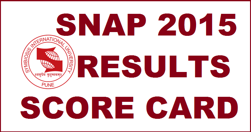 SNAP 2015 Results Declared: Download SNAP 2015 Score Card @ www.snaptest.org