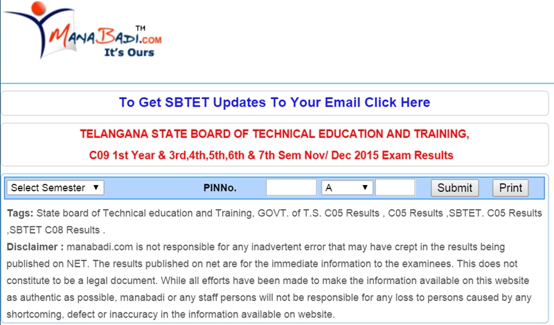 ts sbtet c09 results 2015