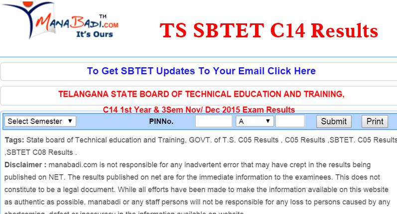 ts sbtet c14 results 2015