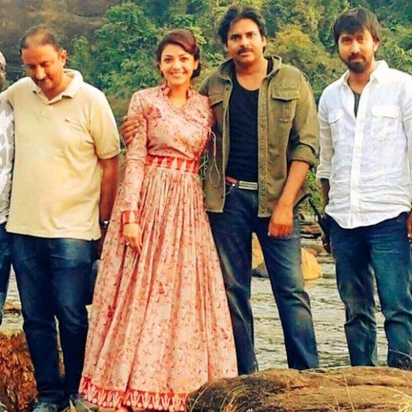 Pawan Kalyan & Kajal Aggarwal From The Sets Of Sardaar Gabbar Singh