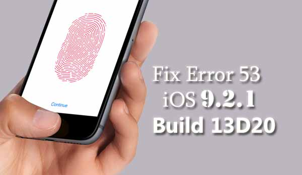 Apple releases iOS 9.2.1 patch to fix iPhones bricked by Error 53