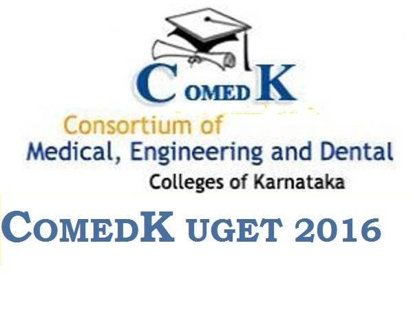 COMEDK UGET 2016 results Announced Download Rank Cards @ www.comedk.org