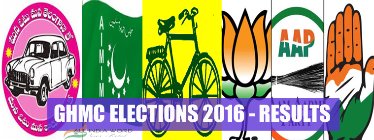 GHMC Election Results 2016 Live Counting Updates Rounds Wise, Winners List Ward Wise