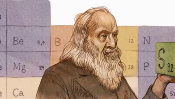 Google doodle  Honours Periodic Table Creator Dmitri Mendeleev on his 182 birthday