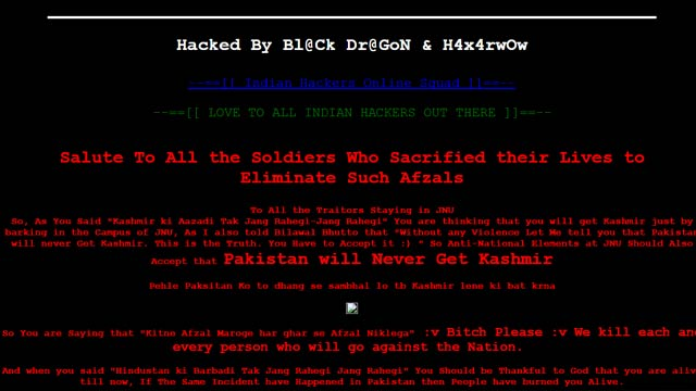 JNU's Central library website hacked