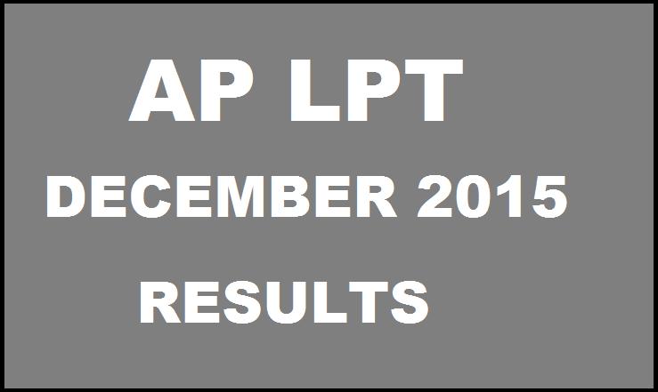 AP LPT December 2015 Results