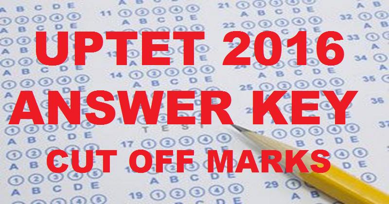 UPTET Answer Key 2016 Download