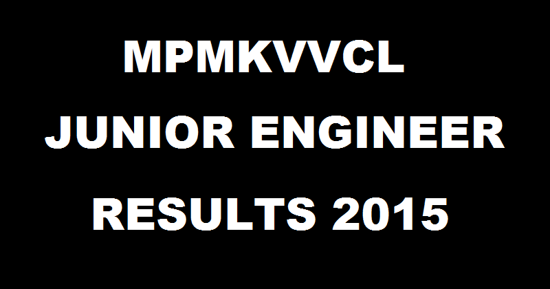 MPMPKVVCL JE Results 2015-2016 Declared| Check Selected Candidates List Here