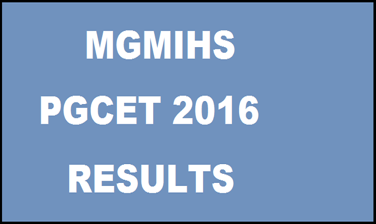 MGMIHS PGCET 2016 Results