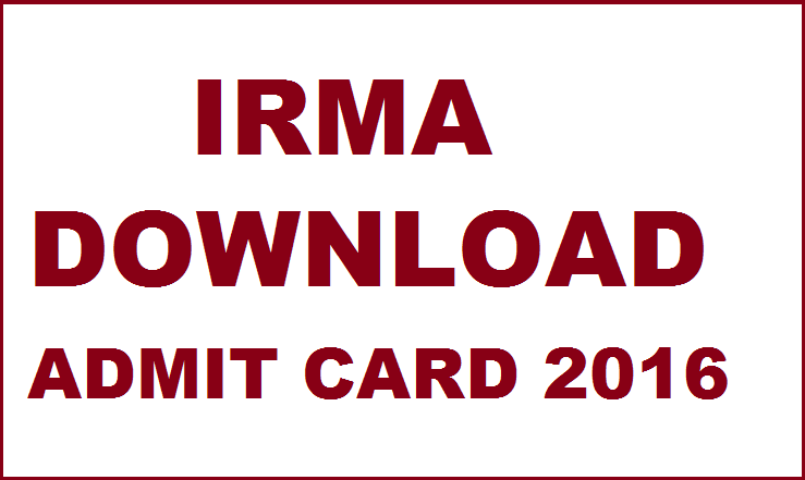 IRMA Results 2016| Check Selected Candidates List on 24th Feb @ irma.ac.in