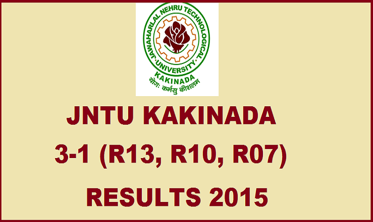 JNTUK 3-1 (R13, R10, R07) Regular/Supply Results 2015|