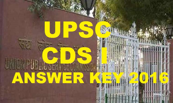 UPSC CDS I Answer Key 2016