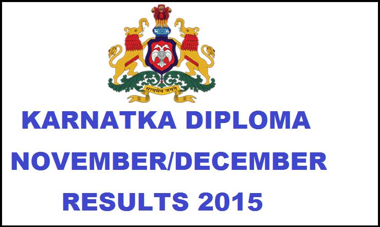Karnataka Diploma Nov/Dec 2015 Results | Check Here @ dte.kar.nic.in