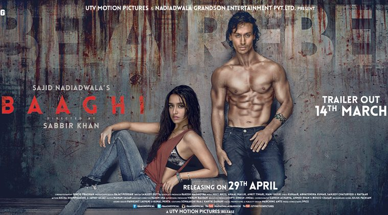 Baaghi poster released Shraddha Kapoor, Tiger Shroff