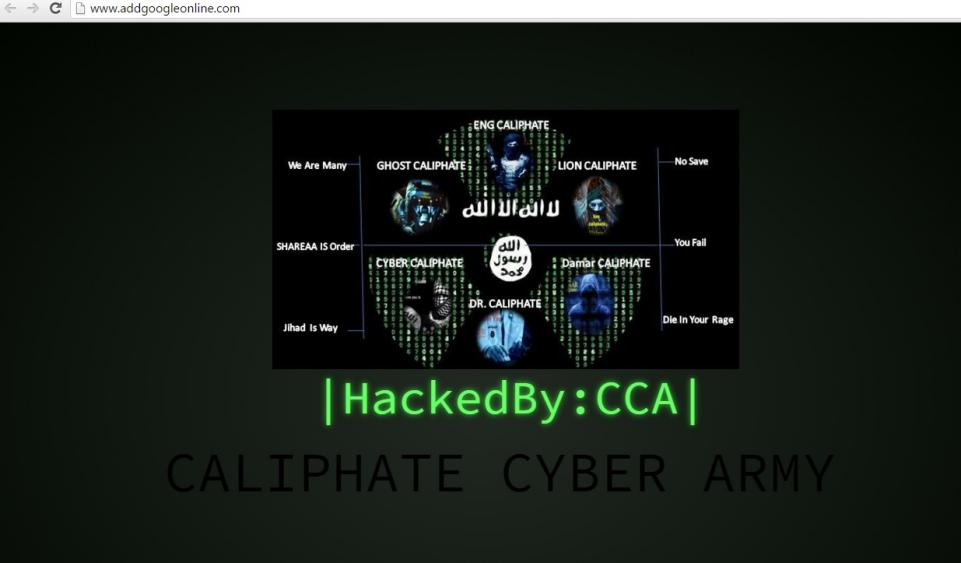 ISIS hacker Group Cyber Caliphate Army(CCA) Hits Wrong Google Site