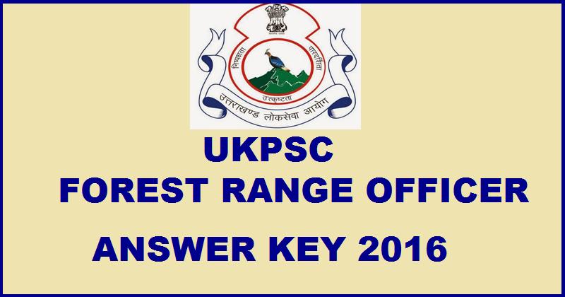 UKPSC FRO Prelims Answer Key