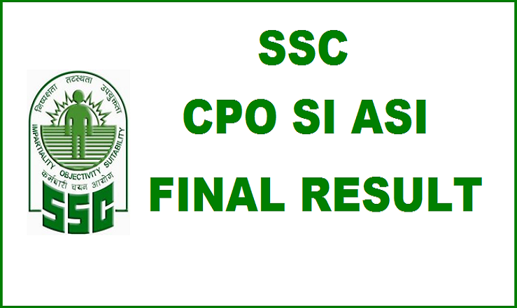 SSC CPO SI/ASI Final Results 2015 Declared| Check Merit List Cutoff Marks @ ssc.nic.in
