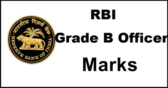 RBI Grade B Officer 2016 Marks