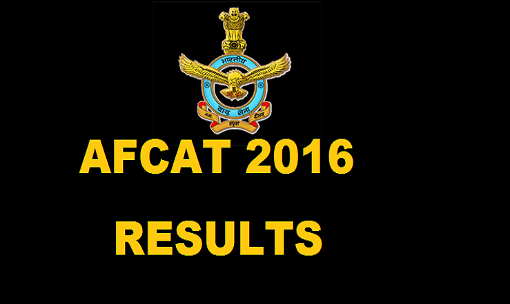 AFCAT Result 2016| Check AFCAT 1 Selected Candidates List @ careerairforce.nic.in