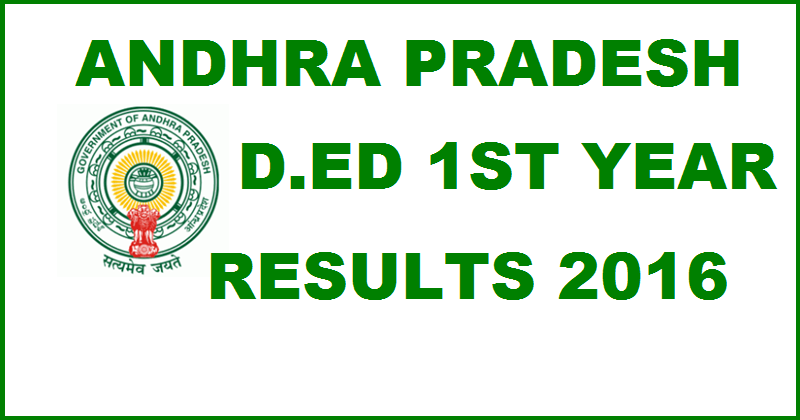 AP D.Ed 1st Year Results 2016