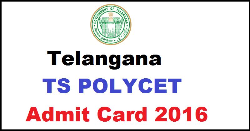 TS POLYCET 2016 Admit Card