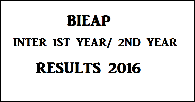 AP Inter Results 2016 For 1st Year And 2nd Year Declared @ bieap.gov.in| Check BIEAP Results