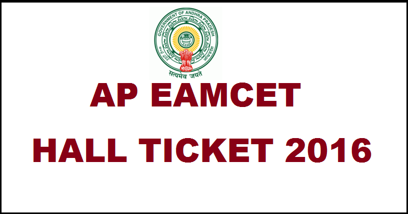AP EAMCET Admit Card 2016 Hall Ticket Download @ www.apeamcet.org For 29th April Exam