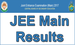 Jeemain.nic.in IIT JEE Main Paper 2 Result 2017 (Released) – JEE Mains Score Card, AIR (All India Rank) @ cbseresults.nic.in