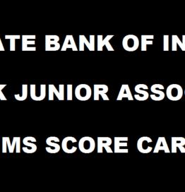 SBI Clerk Prelims Score Card 2016 Marks Released @ www.sbi.co.in For JA & JAA Juniour Associates Exam