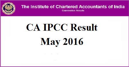 CA IPCC Results May 2016