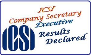 ICSI CS Executive & Professional Results 2016