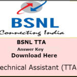 BSNL JE Answer Key 2016 – BSNL TTA Cutoff marks 2016