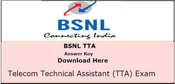 BSNL JE Answer Key 2016