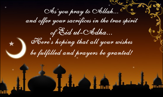 Happy eid al adha bakrid mubarak 2016 images quotes wishes sms eid ul adha is eid of sacrifice and commitment of allahs orders m4hsunfo Image collections