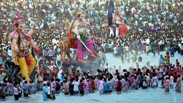 Ganapati Visarjan from Mumbai