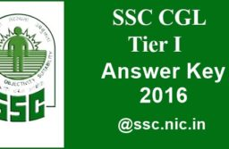 SSC CGL Tier – 1 Answer key 2016 for shifts 1, 2, 3 | SSC CGL Answer Key