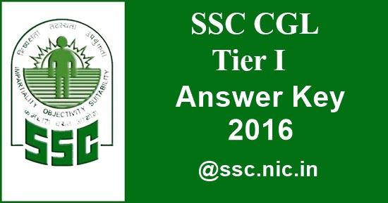 SSC CGL Tier - 1 Answer key 2016