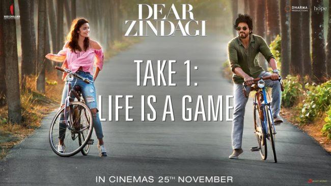 Watch : Dear Zindagi Take 1: Life Is A Game Teaser – Alia Bhatt, Shah Rukh Khan