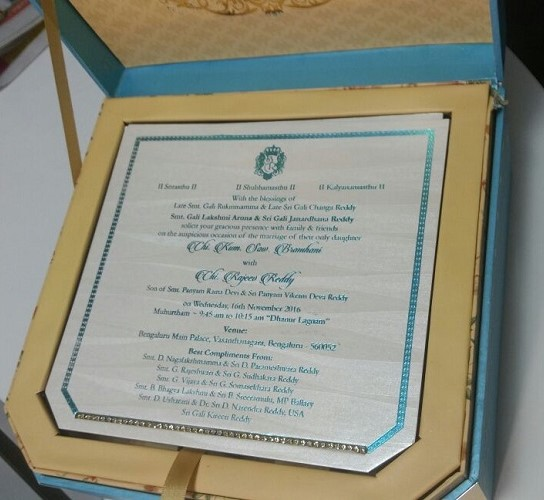 gali-janardhan-reddy-daughter-wedding-invitation-box-card-photos