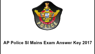 AP Police SI Mains Exam Answer Key 2017 For 18th, 19th Feb Paper 1, 2, 3, 4 & Cutoff marks @ appolice.gov.in
