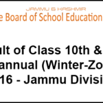 Jkbose Class 12th & 10th Part Two, Bi-annual Result 2016 (Private) – Jammu (Winter Zone) Is Live Now